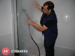 AB Cleaner Cleaning the Bathroom After Construction